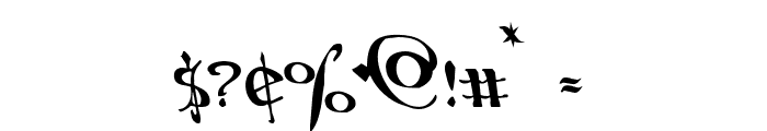 Holly Jingle Solid Leftalic Font OTHER CHARS