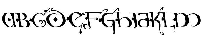 Holly Jingle Solid Leftalic Font UPPERCASE
