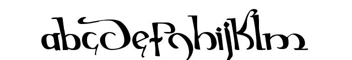 Holly Jingle Solid Leftalic Font LOWERCASE