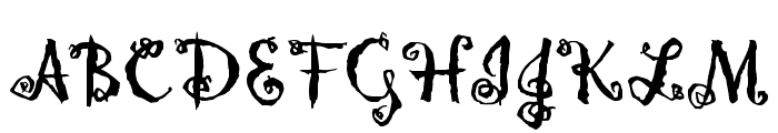 Hollyweird LET Plain:1.0 Font UPPERCASE