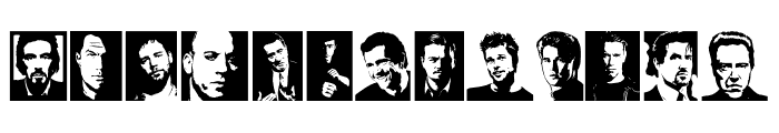 Hollywood Actors Regular Font UPPERCASE