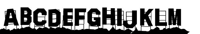 Hollywood Capital Hills Font UPPERCASE