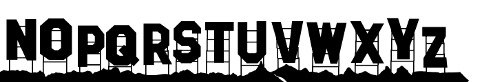 Hollywood Capital Hills Font LOWERCASE