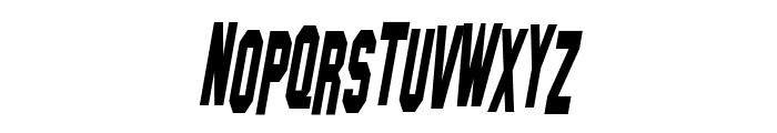 Hollywood Hills Condensed Italic Font LOWERCASE