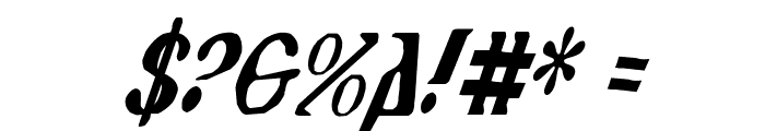 Holy Empire Condensed Italic Font OTHER CHARS