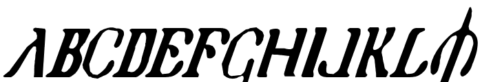 Holy Empire Condensed Italic Font UPPERCASE