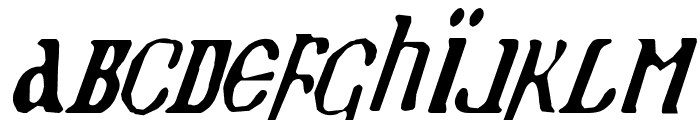 Holy Empire Condensed Italic Font LOWERCASE