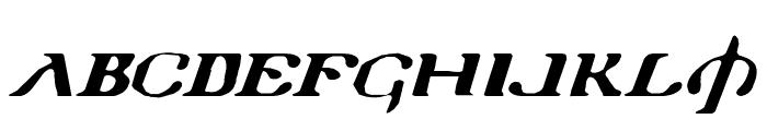 Holy Empire Expanded Italic Font UPPERCASE