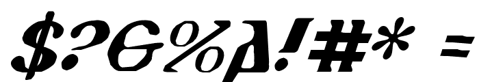 Holy Empire Italic Font OTHER CHARS
