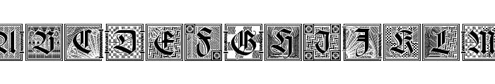 Holzschnitt-Initialen Font UPPERCASE