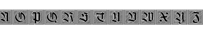 Holzschnitt-Initialen Font LOWERCASE