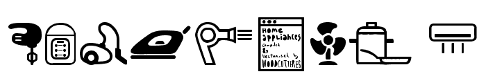 Home Appliances Font OTHER CHARS