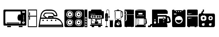 Home Appliances Font UPPERCASE