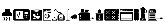 Home Appliances Font LOWERCASE