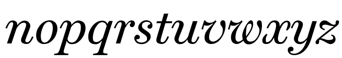 Home Italic Font LOWERCASE