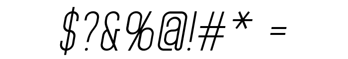 Home Planet BB Italic Font OTHER CHARS