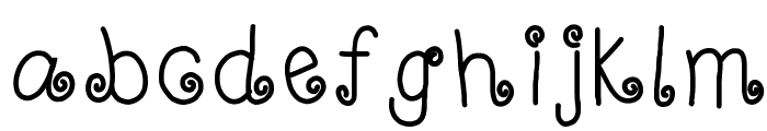 HomegirlCurlUp Font LOWERCASE