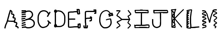 HomegirlDot Font UPPERCASE