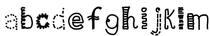 HomegirlDot Font LOWERCASE
