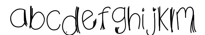 HomegirlFalsies Font LOWERCASE