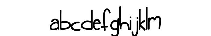 HomegirlGetLow Font LOWERCASE