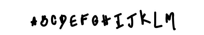 HomegirlHannah Font LOWERCASE