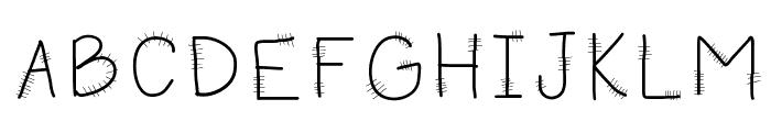 HomegirlKneedStitches Font UPPERCASE