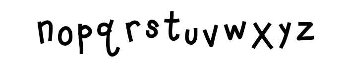 HomegirlLeveledReader Font LOWERCASE