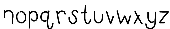 HomegirlOpenMinded Font LOWERCASE