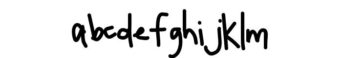 HomegirlQuickNote Font LOWERCASE