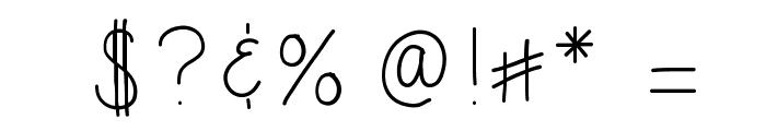 HomegirlSecure Font OTHER CHARS