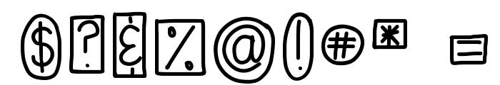 HomegirlShapeUp Font OTHER CHARS