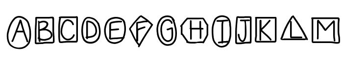 HomegirlShapeUp Font UPPERCASE