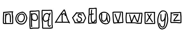 HomegirlShapeUp Font LOWERCASE
