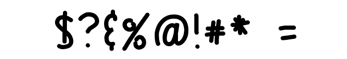 HomegirlUnfinished Font OTHER CHARS