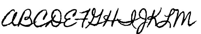 Homemade Apple Font UPPERCASE