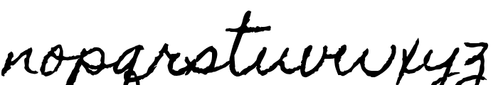 Homemade Apple Font LOWERCASE