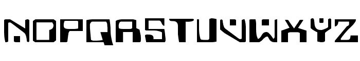 Homemade Robot Expanded Font UPPERCASE