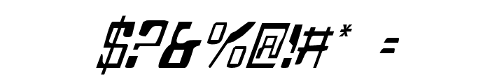 Homemade Robot Italic Font OTHER CHARS