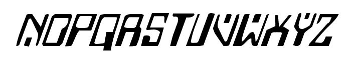 Homemade Robot Italic Font UPPERCASE