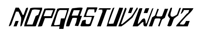 Homemade Robot Italic Font LOWERCASE