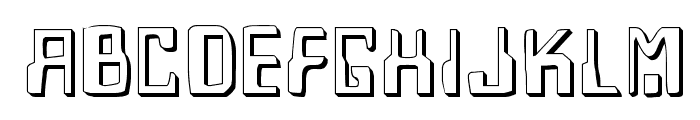 Homemade Robot Shadow Font UPPERCASE