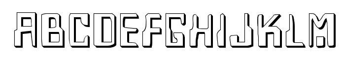 Homemade Robot Shadow Font LOWERCASE