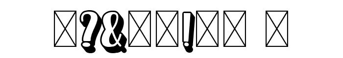 Homenuli Shadow Font OTHER CHARS