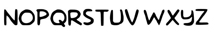 Homer Simpson Revised Regular Font UPPERCASE