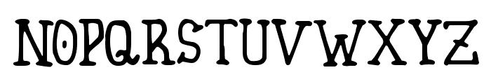 Homespun Font LOWERCASE