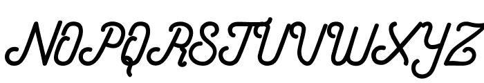 Hometown Script Free Font UPPERCASE