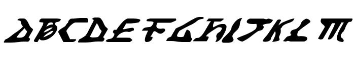 Homeworld Translator Italic Font UPPERCASE