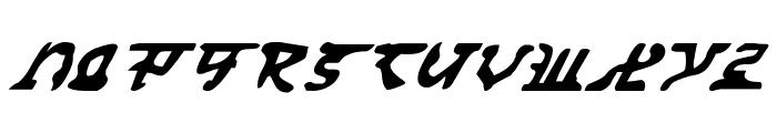 Homeworld Translator Italic Font LOWERCASE