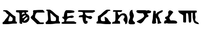 Homeworld Translator Font UPPERCASE